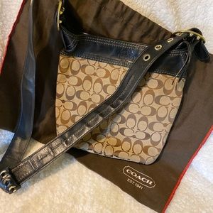 Coach crossbody with carrier bag